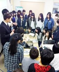 ハッピースイーツ製菓専門学校1年生80人に向け 砂糖の種類・含蜜糖の優れた機能を伝える「砂糖の講義」を実施。