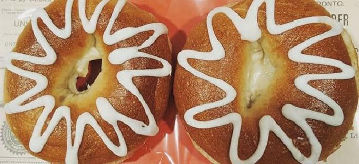 白桃クリームチーズベーグル