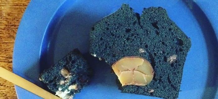 HUG mitten WORKS  竹炭と甘栗のパウンドケーキ