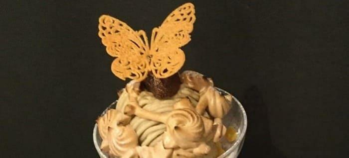 dessert cafe HACHIDORI モンブランパフェ